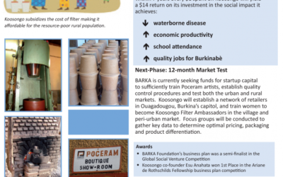 Koosongo: Ceramic Filters for Burkina Faso