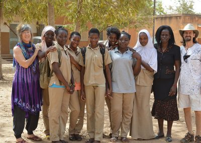 These girls created skits to sensitize 1500 students about MHM and Female Genital Mutilation and Cutting (FGMC).