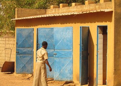 This is the latrine students use at Lycee Diaba Lompo, Fada's largest high school.