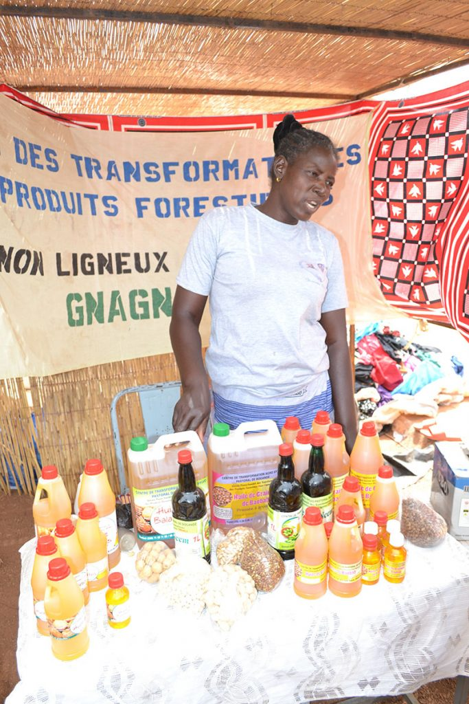 Local women's associations selling oils, seeds, honey and shea