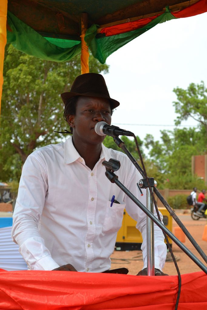 Peace Sarambe gave a speech for BARKA