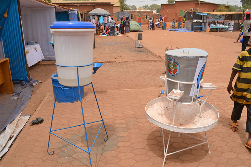 BARKA's ceramic water filer and handwashing station design