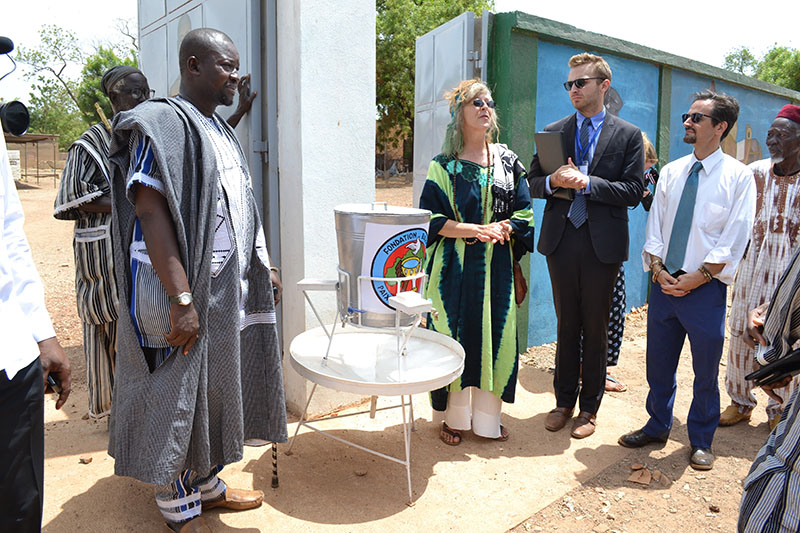 BARKA gifted the palace with hand washing sations