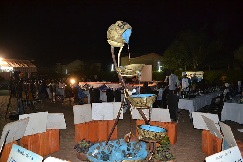 The fountain at the heart of the Water Fair